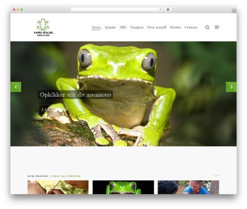 WordPress theme Salient - kambo-healing.com