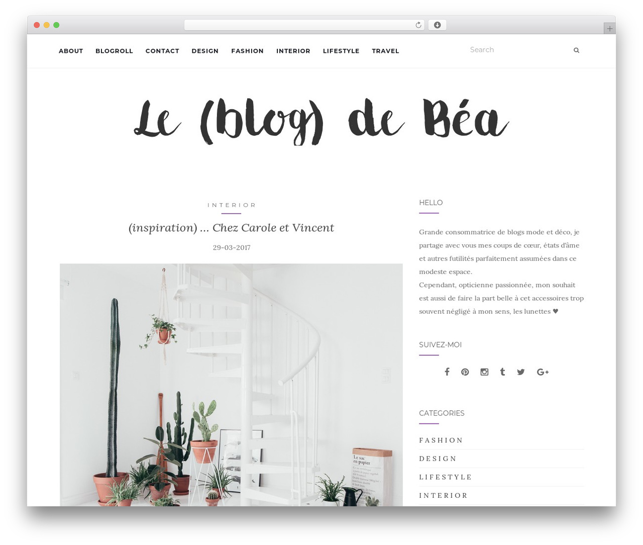 Activello theme WordPress - leblogdebea.com