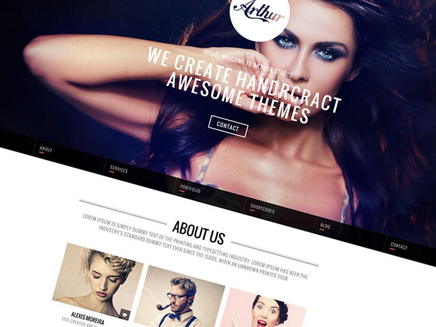 Arthur personal WordPress theme