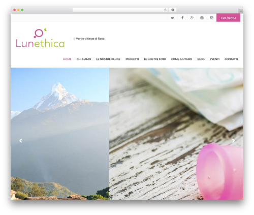 Charity Child Theme template WordPress - lunethica.org
