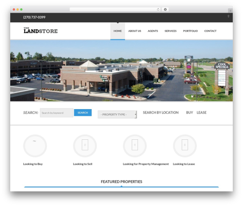 Delicate WordPress ecommerce template - landstoreinc.com