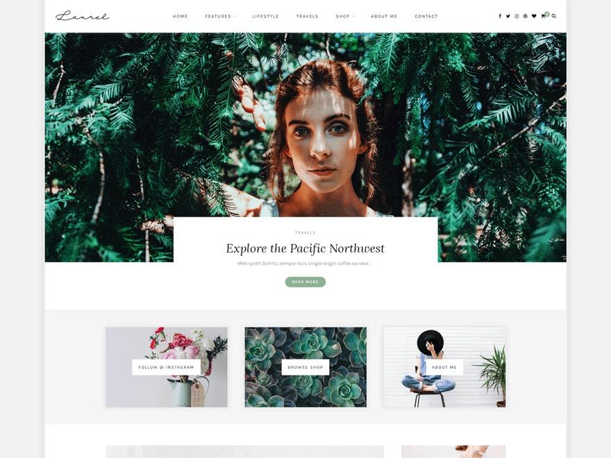 Fit Liz Bollini WordPress page template