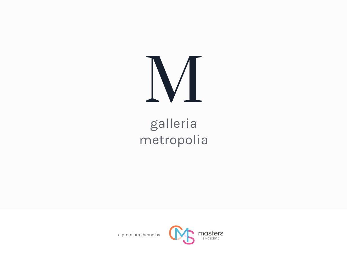 Galleria Metropolia WordPress blog theme