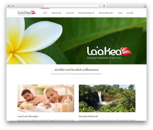 Lounge massage WordPress theme - laakea.de