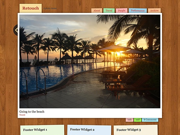 Retouch WordPress blog template