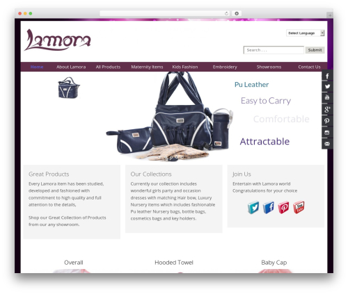 SmartShop WordPress page template - lamora.ca