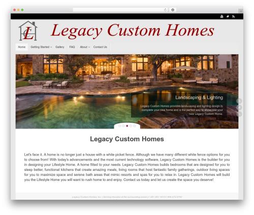 Tempera free WordPress theme - legacy-customhomes.com