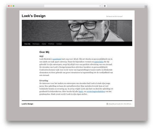 Twenty Ten WordPress page template - loeksdesign.nl