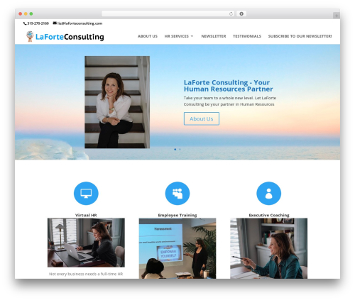 WordPress template Divi - laforteconsulting.com