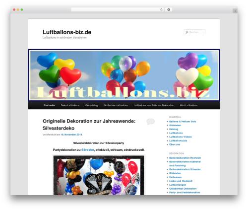 WordPress theme Twenty Eleven - luftballons-biz.de