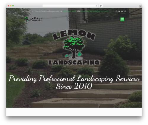 WordPress website template Betheme - lemon-landscaping.com
