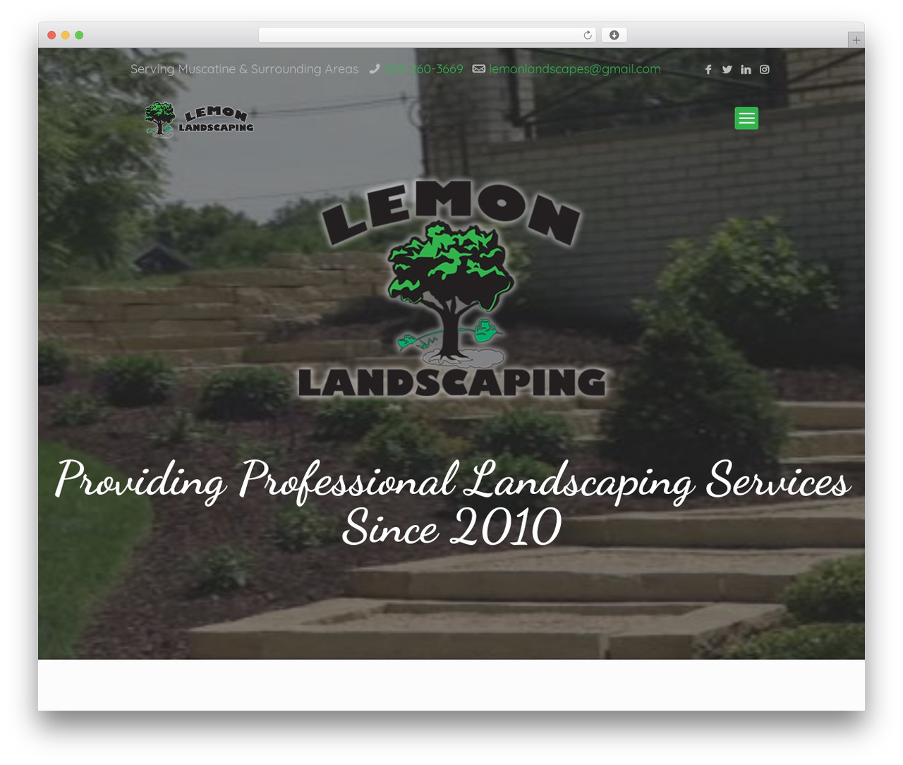 WordPress website template Betheme - lemon-landscaping.com