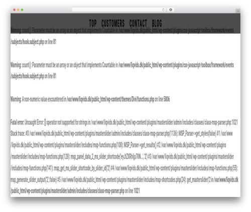 WordPress website template Divi - liqvids.dk