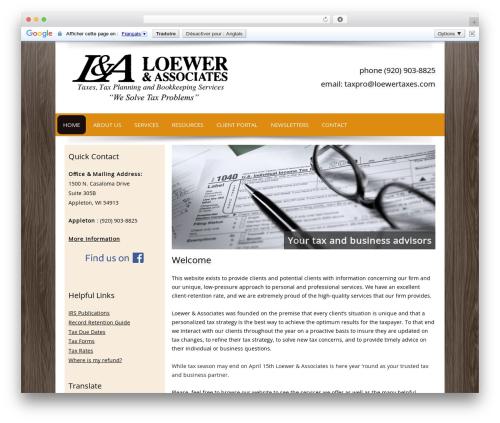Customized WordPress page template - loewertaxes.com