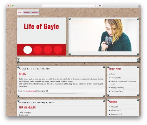DISCUSSION theme WordPress - lifeofgayle.com