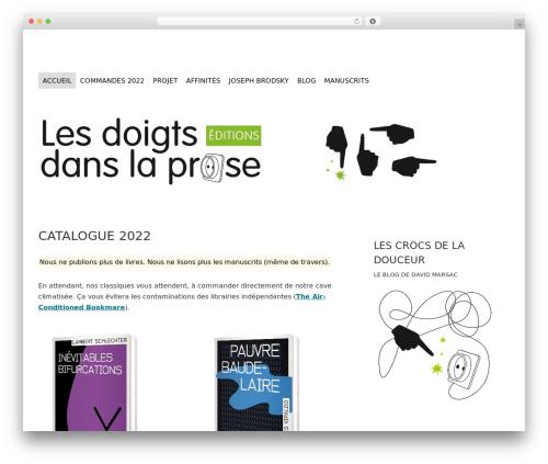 kanagata WP theme - lesdoigtsdanslaprose.fr