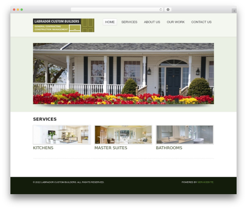 Simplicity WP theme - labradorcustombuilders.com
