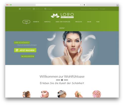 Spa Lab best WordPress theme - loro.at