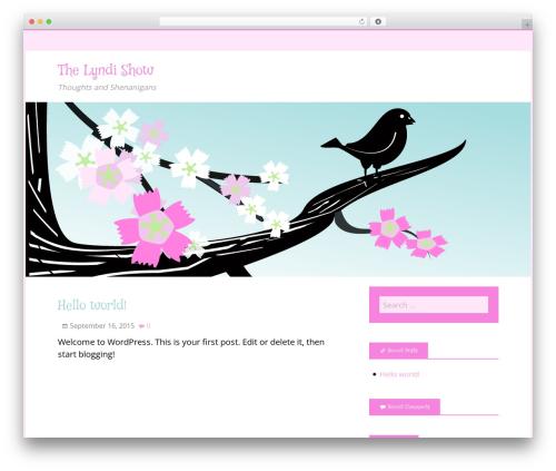 Spring Song free WordPress theme - lyndishow.com