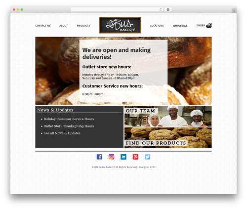 Starkers WP theme - lebusbakery.com