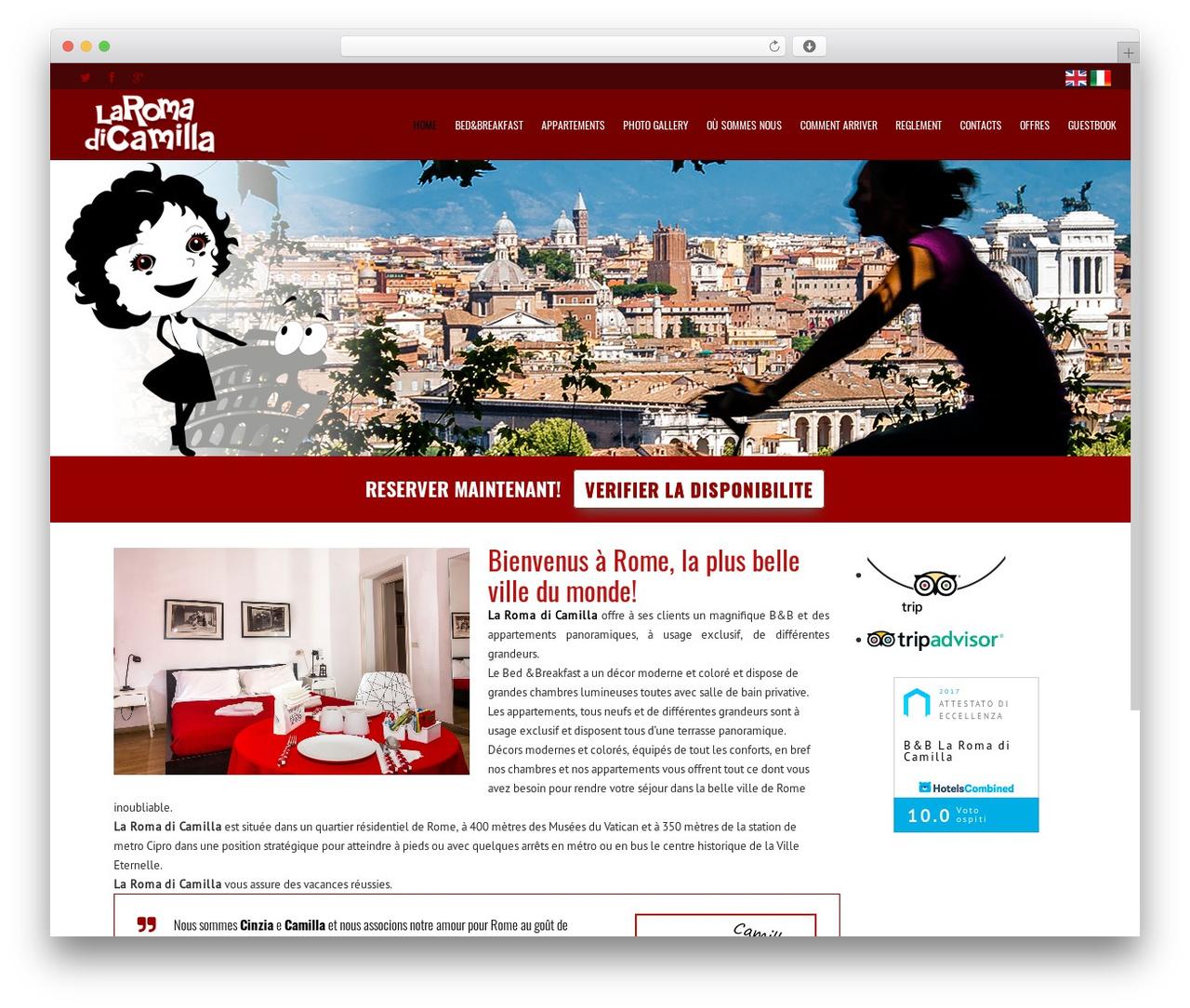 Subway WordPress template - laromadicamilla.eu