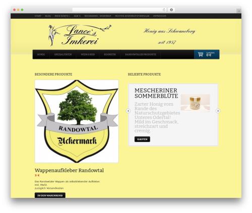 Theme WordPress Shelflife - lancehonig.de