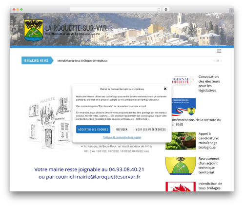 Themify Magazine WP template - laroquettesurvar.fr