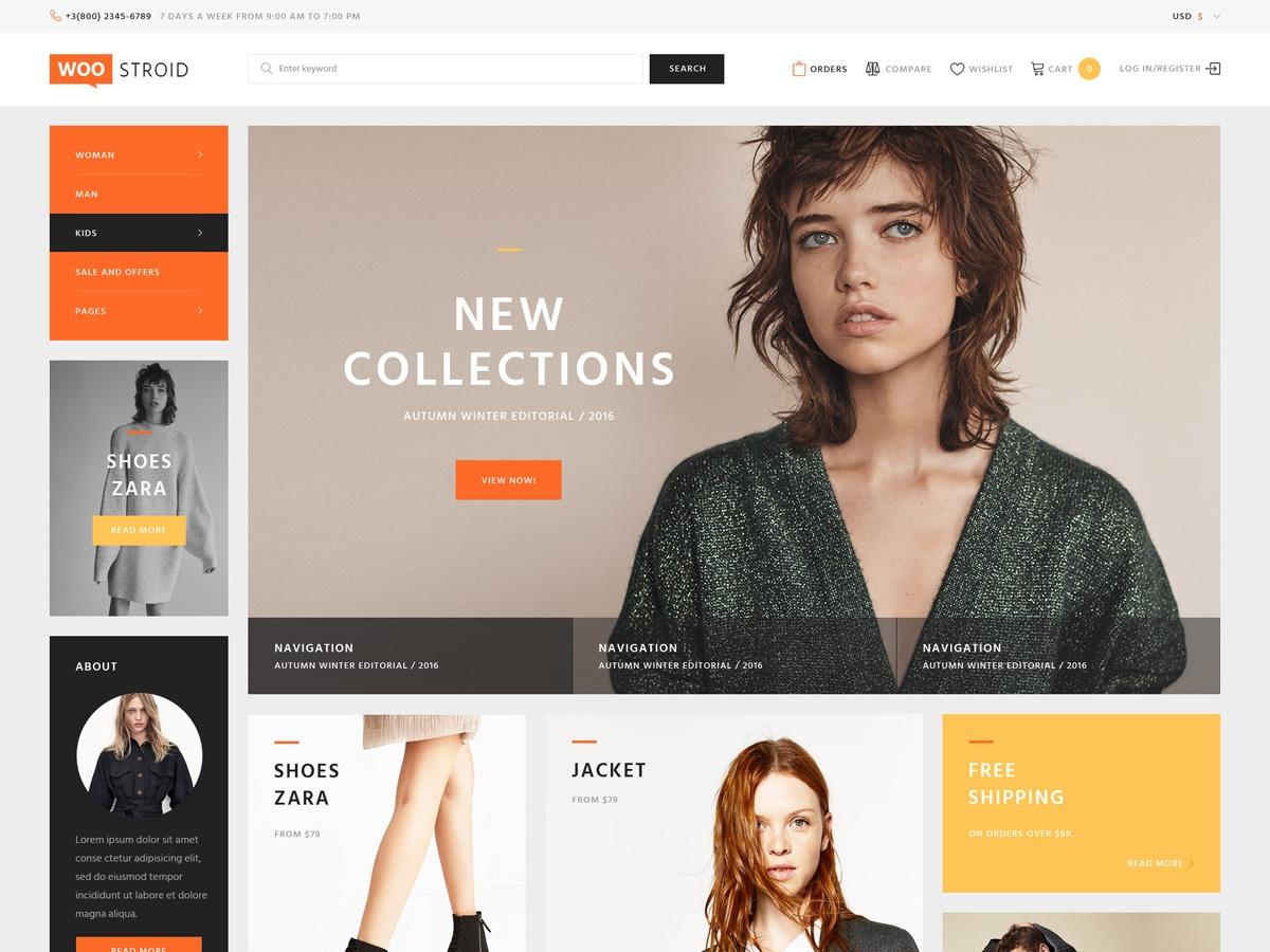 Woostroid fashion WordPress theme