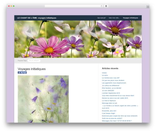 WordPress theme Meeta - lechantdelame.fr