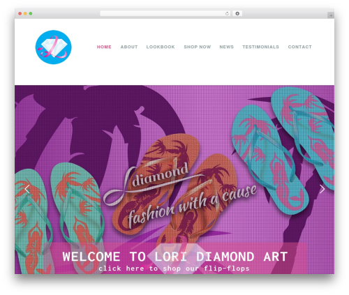 WP template Lori Diamond - loridiamondart.com
