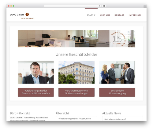 X WordPress theme design - langberlin.de