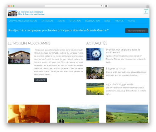 AccessPress Lite free WP theme - lemoulinauxchamps.com