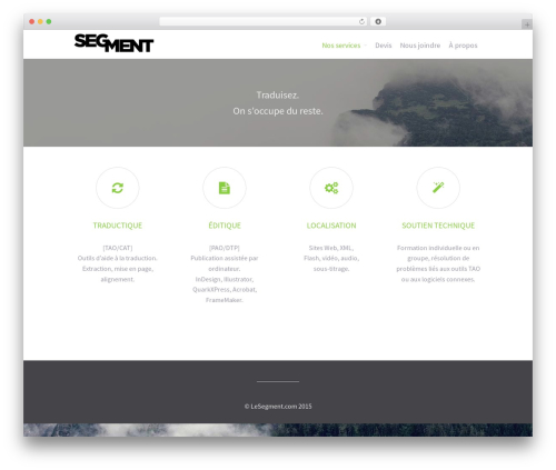 Best WordPress template Allegiant Pro - lesegment.com