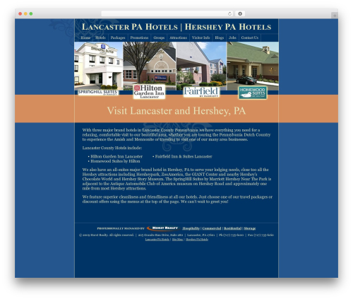 Hybrid WordPress website template - lancasterhersheypahotels.com