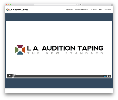 Swatch WordPress movie theme - laauditiontaping.com