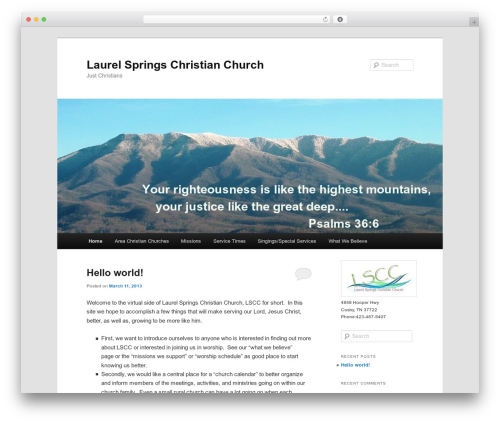 Twenty Eleven theme WordPress free - laurelspringschristianchurch.org