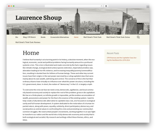 Twenty Thirteen free WordPress theme - laurenceshoup.com