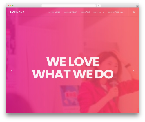 WordPress website template Uncode - lianbaby.com