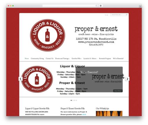 WP theme Chameleon - liquornliquor.com