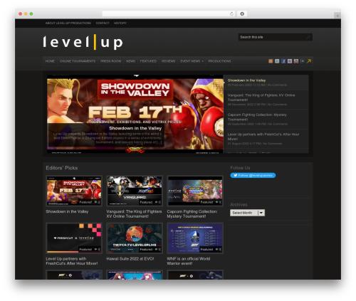 Arras WordPress page template - levelup-series.com
