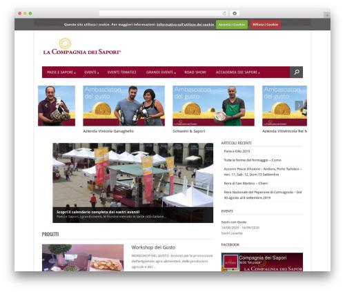 Best WordPress template Magazon (shared on wplocker.com) - lacompagniadeisapori.it