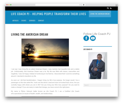 Best WordPress theme Magazine - lifecoachpj.com