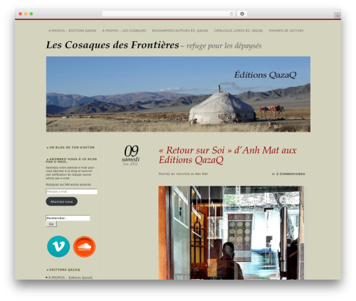 Chateau best WordPress template - lescosaquesdesfrontieres.com