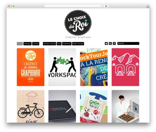 Grid Theme Responsive WordPress website template - lechoixduroi.fr