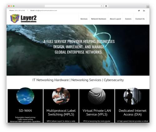 Inspira WordPress theme design - layer2communications.com