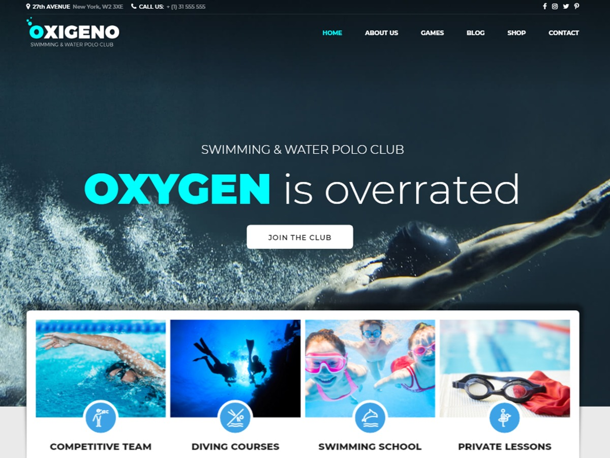 Oxigeno WordPress theme