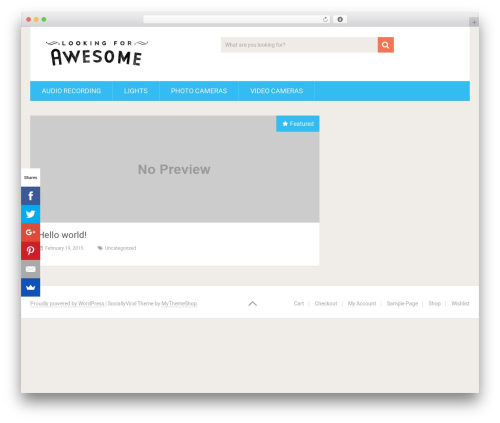 SociallyViral template WordPress free - lookingforawesome.com