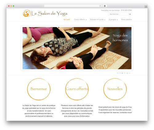 U-Design WordPress page template - lesalondeyoga.com