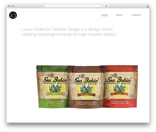 WordPress website template Jupiter - lacreates.com