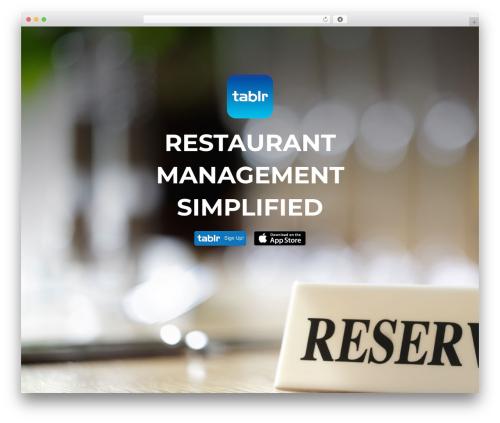 Akin best restaurant WordPress theme - tablr.com/wp